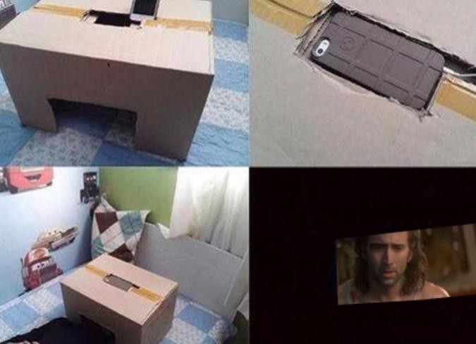 Crea una sala de cine personala partir de un teléfono inteligente y una caja de cartón reciclada. - ENFILME.COM