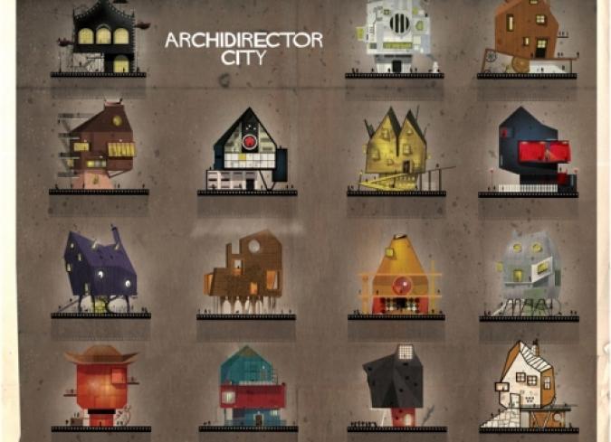 Directores icónicos reimaginados en construcciones arquitectónicas. - ENFILME.COM
