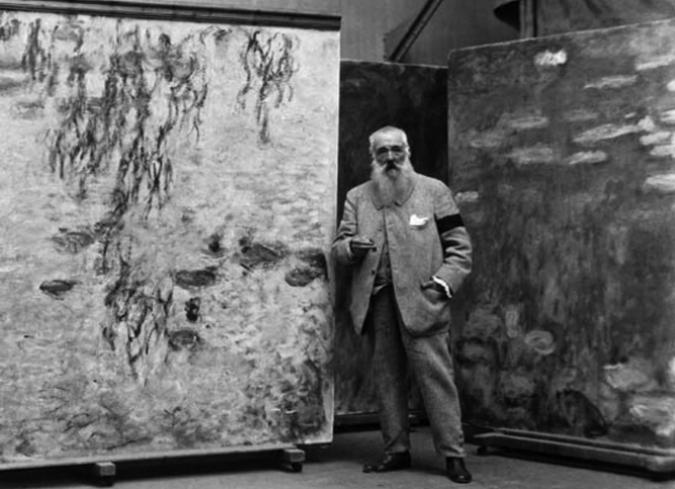 Monet, Renoir, Rodin y Degas en registros fílmicos de 1915. - ENFILME.COM