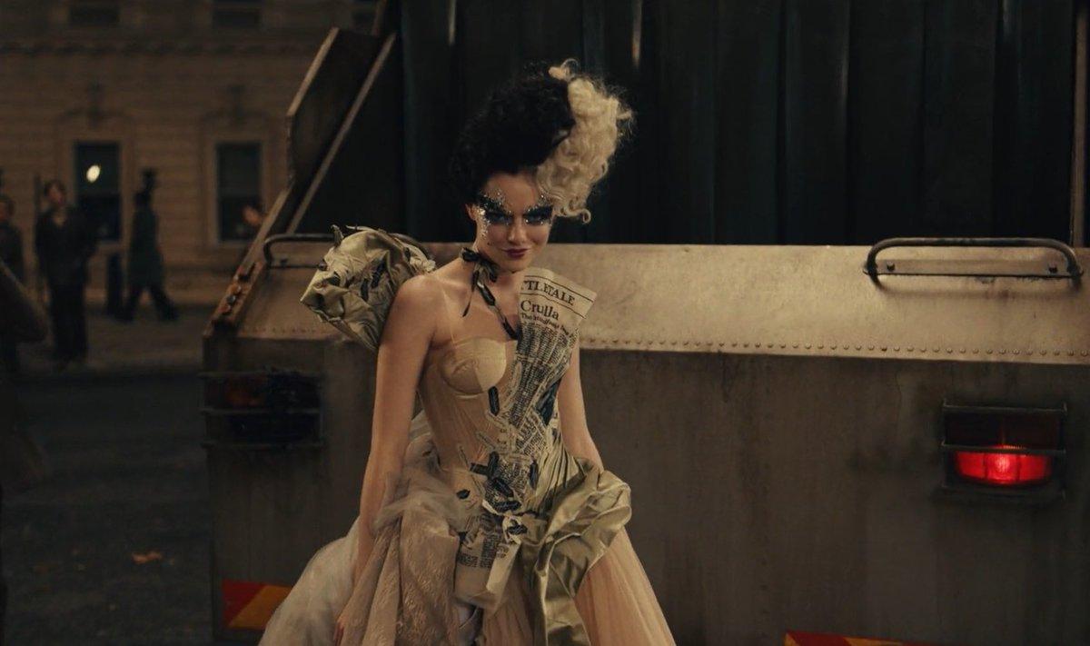 cruella rubbish dress