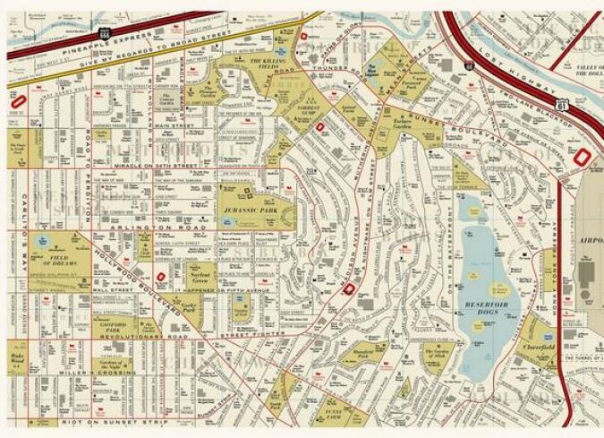 Imagen Los Angeles La Ciudad Del Cine Un Mapa Imaginario En El