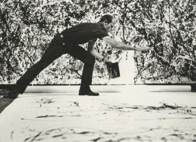 CINE Y ARTE: 'Jackson Pollock 51', un cortometraje sobre la técnica de goteo del pintor estadounidense